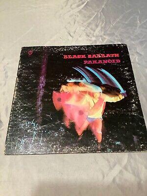 Vintage Black Sabbath Paranoid Record LP Vinyl Warner Bros Ozzy War Pigs 1970
