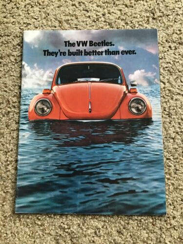 1974  VW  beetle  original dealership color sales handout.