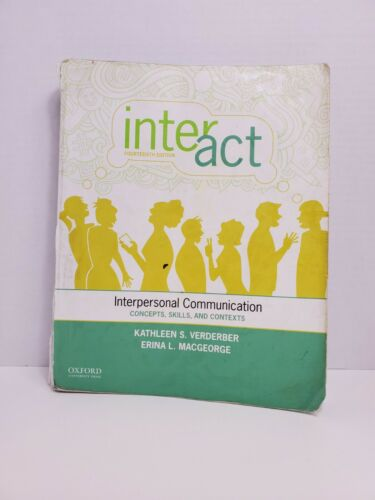 Inter-Act Interpersonal Communication Concepts, Skills, And Contexts  - $44.99