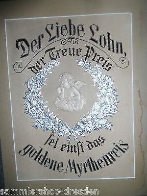 25061 Haussegen Silberhochzeit Sixtinischer Engel  49x36 cm