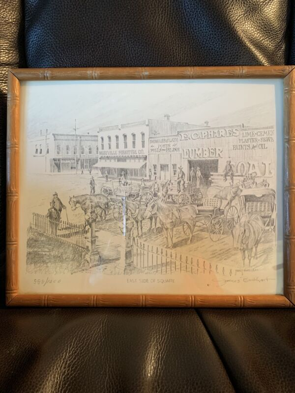 Maryville MO Missouri Numbered Print Square Merchants 1880 Businesses Burkhart
