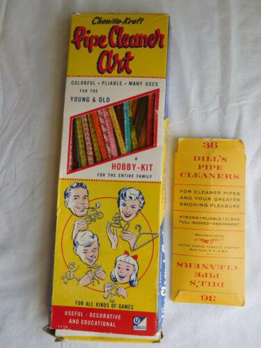 "Chenille Kraft decorative 12"" PIPE CLEANER ART hobby kit box plus Dills colorful"