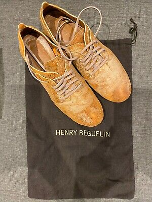 Henry Beguelin Metal Wash Copper Lace Up Shoes Size 37 (UK 4)