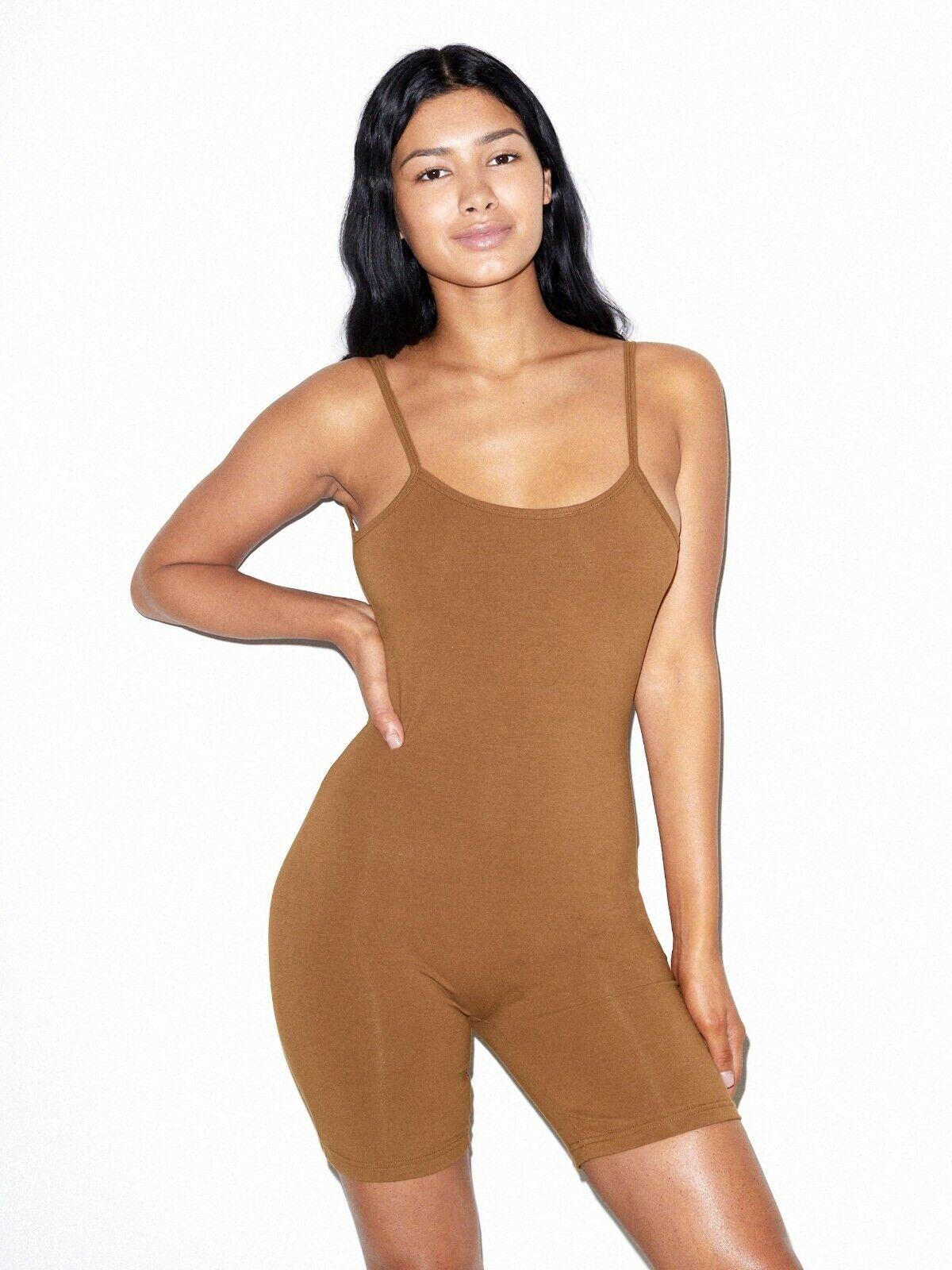 American Apparel Women's Cotton/Spandex Singlet, Nude 4, S &