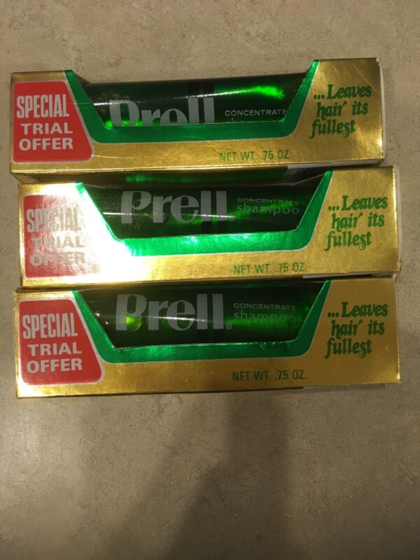 Concentrated Vintage Prell Shampoo from the 1980s - NOS x 3 Boxes - Movie Prop!