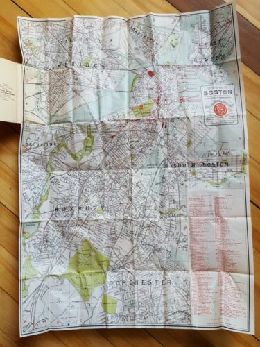 1895 Map of Boston Christian Convention Specially Made Rare