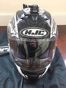 HJC helmet, Saddle and tank bags for sale