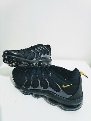 Nike Air Vapormax Plus TN Black Gold 9 UK / 44 EU /10US Running Shoes