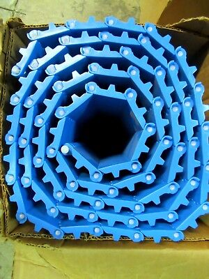 Safari Belting 225peb 18x10ft Flat Top Open Hinge Plastic Conveyor Belt 18x10