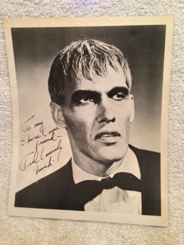 Vtg. Photo Of Lurch Of Addams Family From 1965 Hadi Shrine Circus Evansville IN