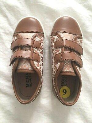 Michael Kors Slip On Kids Girl Shoes Brown Size 9