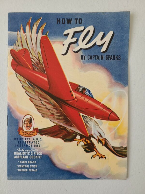1941 Captain Sparks Orphan Annie How To Fly Booklet Quaker Radio Show Premium
