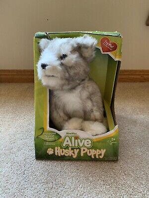 2008 WowWee Alive Husky Puppy Interactive Stuffed Plush Dog BRAND NEW