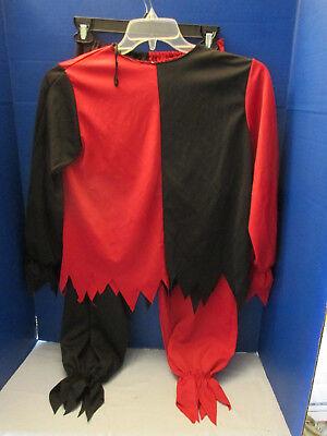 SPIRIT~Red & Black EVIL JESTER / ZOMBIE Halloween Costume~Shirt & Pants~Child XL - Spirit Halloween Zombie Costumes