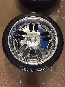 22inch rims and almost new rubber