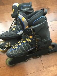8.5 Woman's high quality Velocity K2 soft boot roller blades
