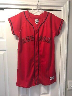 Youth Girls Boston Red Sox Baseball Jersey Dress Very Rare Size Girls XL MLB - Baseball Jersey Dress