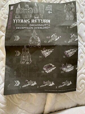 Transformers Titans Return Overlord & Dreadnaut Instructions