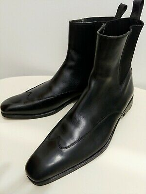 Men's Vintage Gucci Wing-Tip Pull On Ankle Boot / Black / Size 42 E