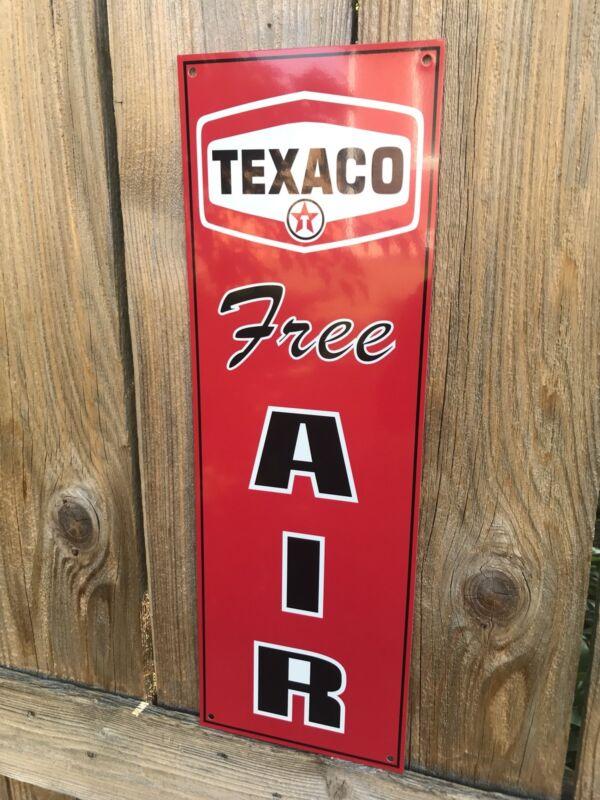 Texaco Free Air Garage Metal  Gasoline Gas sign Pump Oil