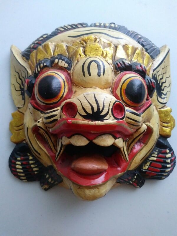 Chinese wood mask hand  Painted Hand-carved, Wall Hanging