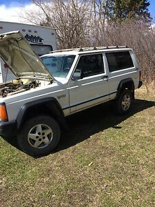"91 jeep 2 door 5speed procomp 4""lift"