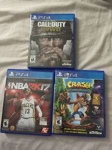Call of Duty WW2 / Crash Bandicoot N' Sane trilogy/ NBA 2K17