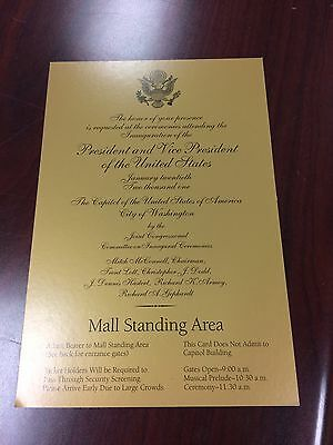 2001 Inauguration President George W  Bush Swearing In Gold Ticket