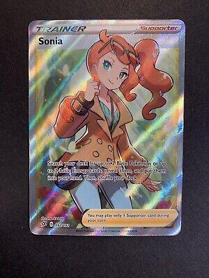 SONIA 192/192 REBEL CLASH Pokemon - FULL ART TRAINER RARE HOLO MINT PACK FRESH