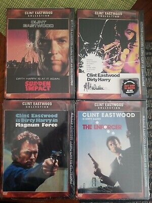 CLINT EASTWOOD 4 DVD LOT Dirty Harry SUDDEN IMPACT Magnum Force BRAND NEW SEALED