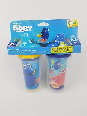 The First Years Disney Pixar Finding Dory Insulated Sippy Cup 9 Oz Baby Cup (Baby 2pk Sippy Cups)