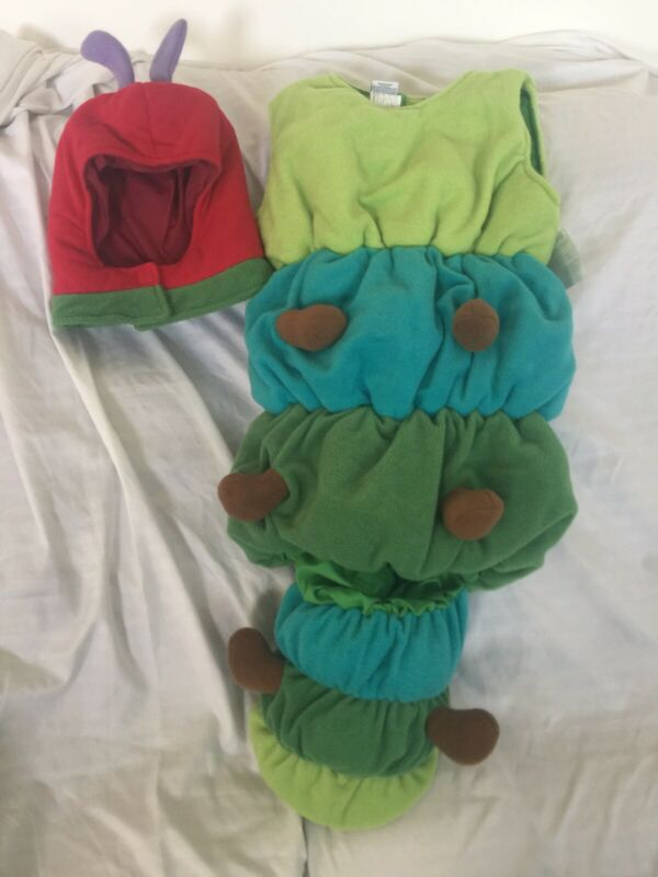 Pottery Barn Kids Very Hungry Caterpillar Costume 7 - 8 yrs NWT NLA