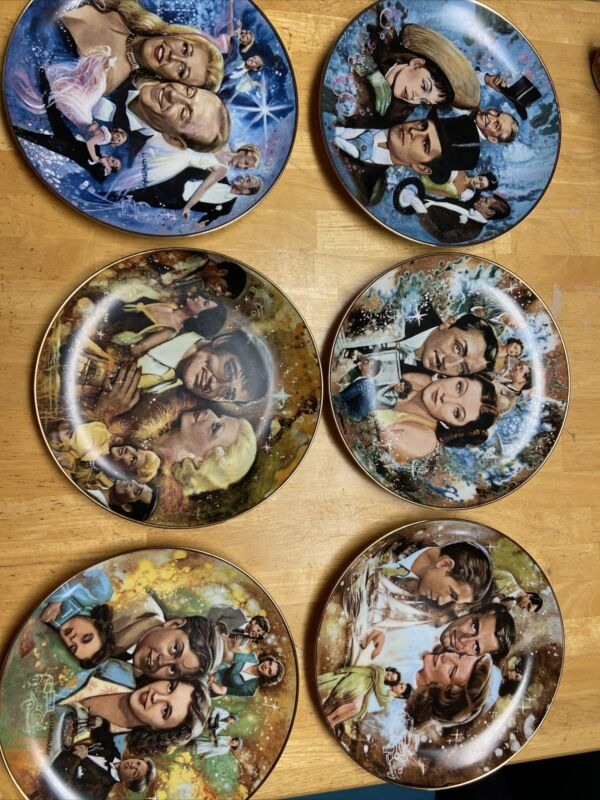 VINTAGE L WHITTAKER LTD THE GOLDEN AGE OF CINEMA SET OF 6 COLLECTOR PLATES