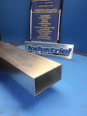 6063 Aluminum Rectangle Tube 2 X 4 X 36 X 14 Wall--2 X 4 X .250 Wall