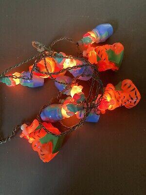Vintage Disney Winnie The Pooh Christmas String Lights Piglet Tigger Blowmold