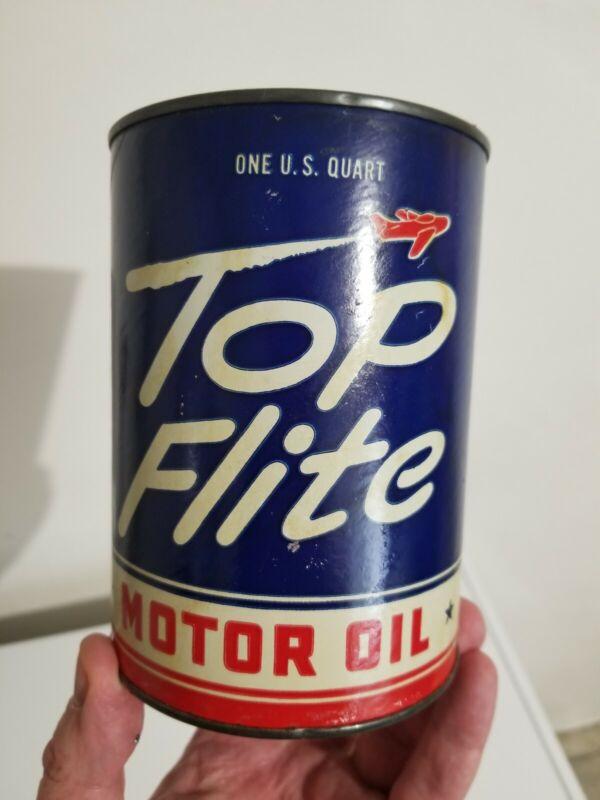 Rare Top Flite Quart Oil Can