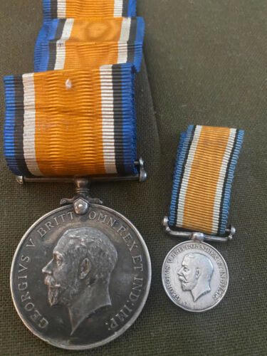 WW 1 British War Medal Silver Named & Numbered W/ Mess Dress Medal