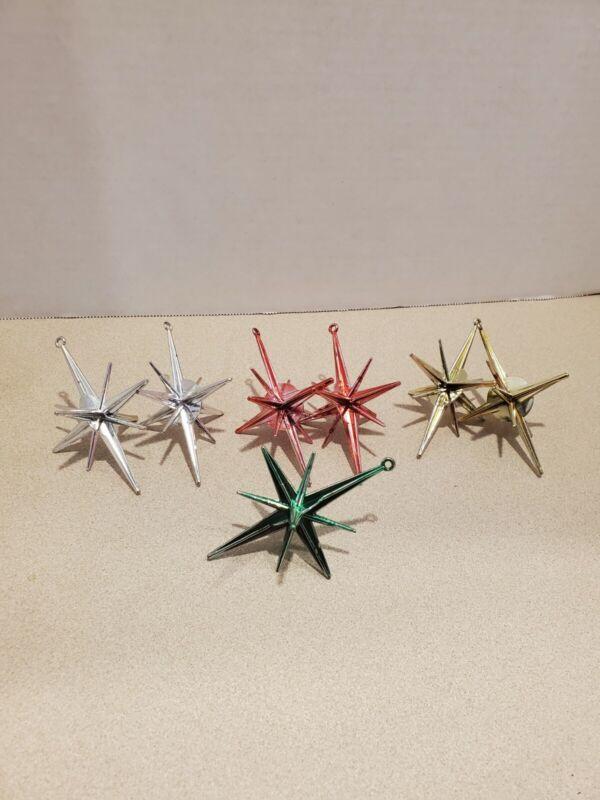 Vintage sputnik ornaments Atomic Star Space Age Mid Century 1950s Christmas Star