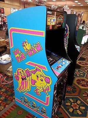 """New commercial 27"""" LED LCD monitor Ms Pac man Galaga upright video arcade  game"""