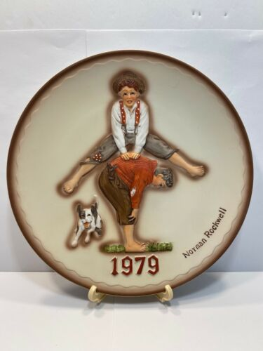 Vintage Norman Rockwell 1979 Annual Plate *Boxed* Dave Grossman Design
