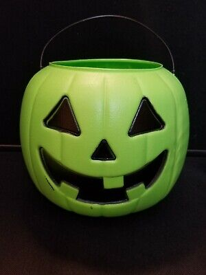 General Foam Halloween Jack O Lantern Pumpkin Blow Mold Trick Or Treat Pail #4