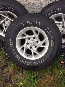 "Chev/GMC 16"" rims and tires"