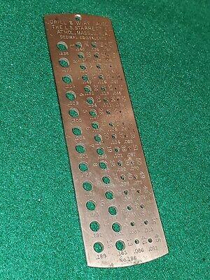 Usa Made Starrett No.186 Drill Wire Gauge - Nice
