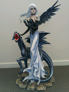 RARE: Gothic Fairy/ Angel with Pet Dragon Collectable