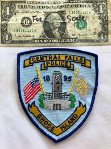 Central Falls Rhode Island Police Patch in great shape