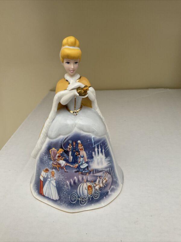 Disney - Bradford Editions - Cinderella Porcelain Bell Figure - 5in Tall