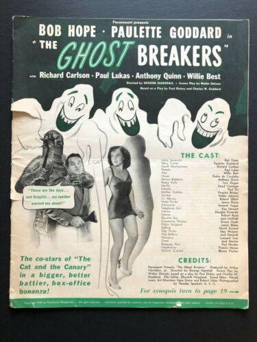 "Ghost Breakers Original Pressbook (Bob Hope, 1940) - 28 Pages 12"" x 15"" VG"