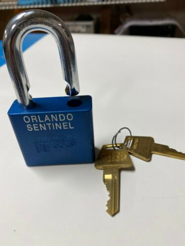 25 NEW WITHOUT BOX AMERICAN LOCK COMPANY 5-PIN PADLOCK BLUE USED SAME KEY