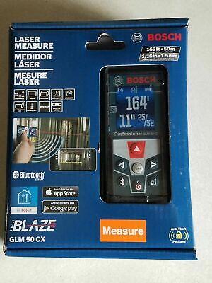 "Bosch GLM 50 CX ""Blaze"", 165' Bluetooth Laser Distance Measurer, NEW IN BOX"