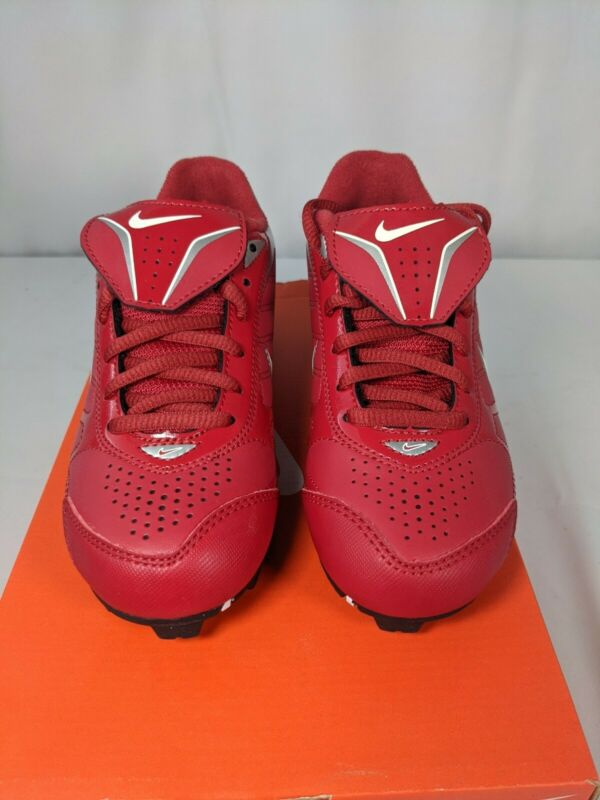 Nike Keystone Low YOUTH Baseball Cleats Boys 1.5 1.5y Red Very Nice